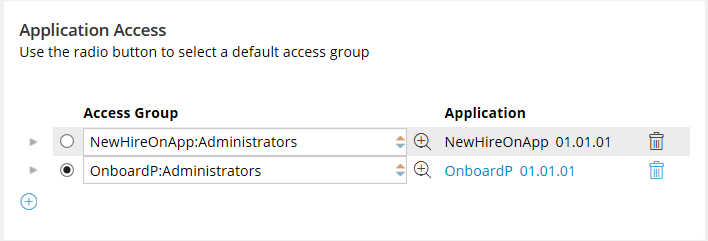 Team member operator IDs, including the access group