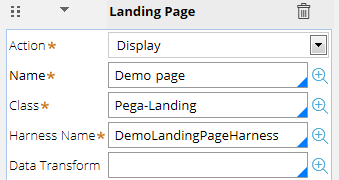 Landing page action description