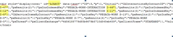 AJAXCT div linking to work items