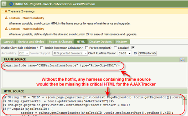 Harness HTML Frame Source with HTML Source for AJAXTracker