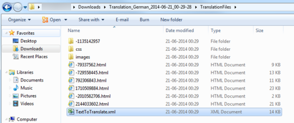 Downloaded language pack TranslationFiles lists TextToTranslate.xml