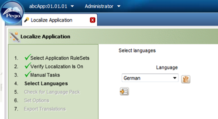 Localize Application wizard Select Languages