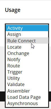 Activity rule form Security tab Usage choices