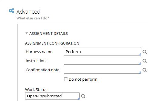 Update work status value