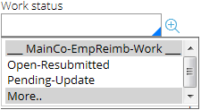 New work status values
