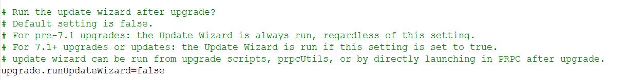 run update wizard