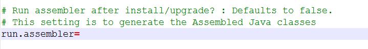 run static assembler