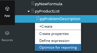 Optimize for reporting option