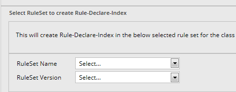 Select ruleset and version