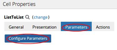 List-to-List parameter tab