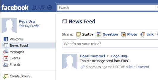 a Facebook message