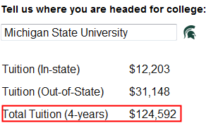 Out-of-state tuition calculations