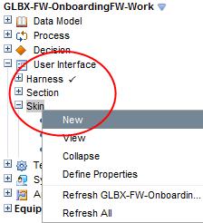 Create a new skin