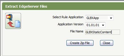Extract Edge Server Files window