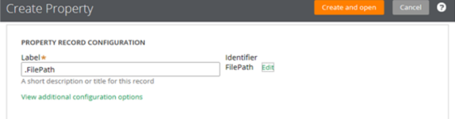 Create text property .FilePath