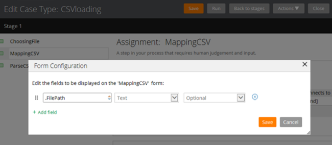 Specify .FilePath text field for MappingCSV form