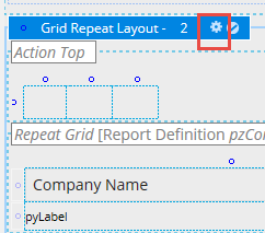 Gear icon on the Grid Repeat Layout header