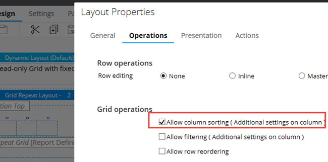 Enabling column sorting on entire grid