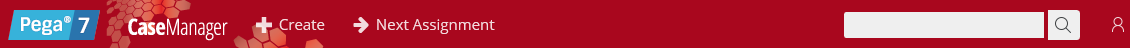 A red background with hexagonal shapes