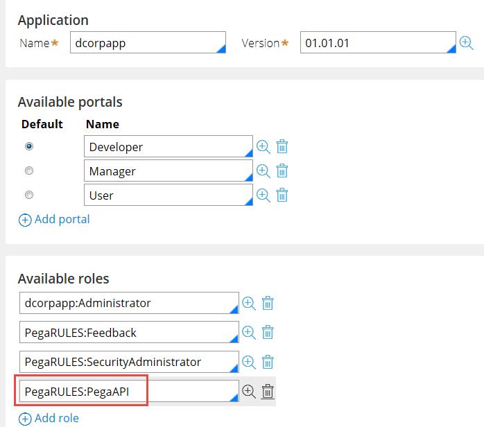 Adding the Pega API role to your Access group