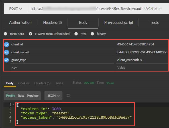 Accessing a token endpoint