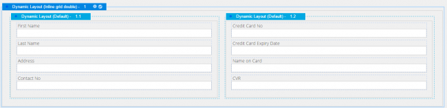 A form with two separate dynamic layouts