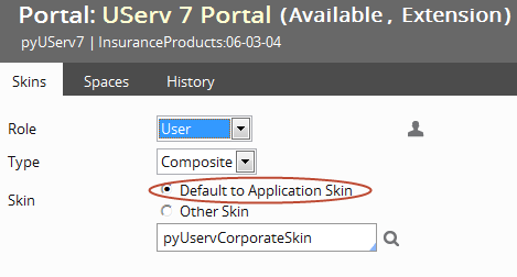 Default to Application Skin specified