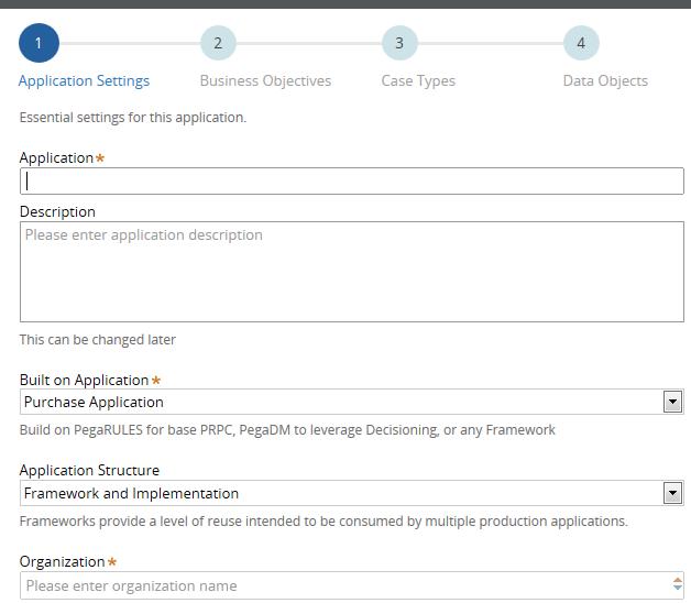 Step 1: Application Settings