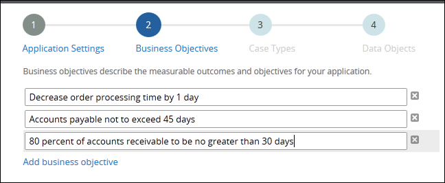 Specifying business objectives