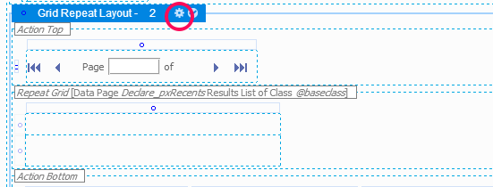 Grid Repeat Layout header