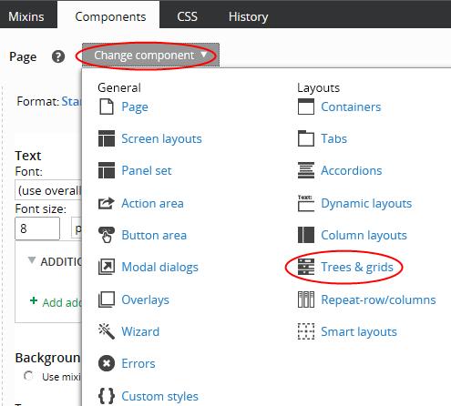 Components tab
