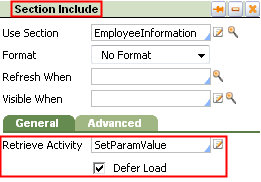 Retrieve Activity on Defer Loaded section