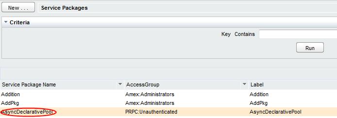 Select AsyncDeclarativePool