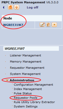 Select Administration>Requestor Pools