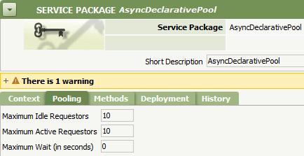 Service Package Pooling tab