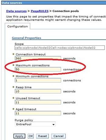 Specify Maximum connections