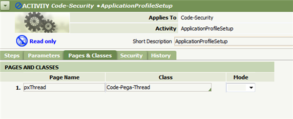Page Name pxThread for Thread Page Code-Pega-Thread