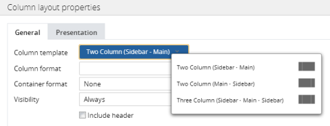 Using layouts to structure content in sections | Pega