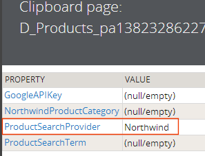 parameter sent in the data page reference