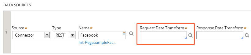 Request and response data transforms