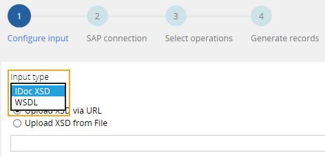 Selecting an input document for SAP integration