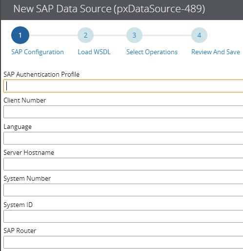 New SAP data source