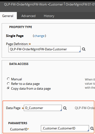 data page access for property
