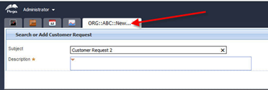 runtime output Search or Add Customer Request