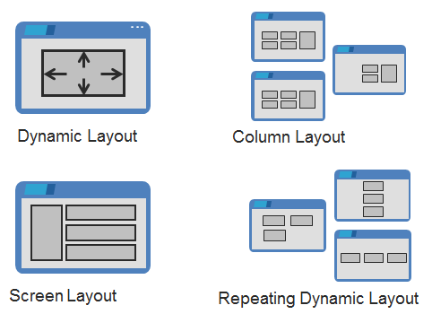 Using dynamic layouts to create responsive user interfaces