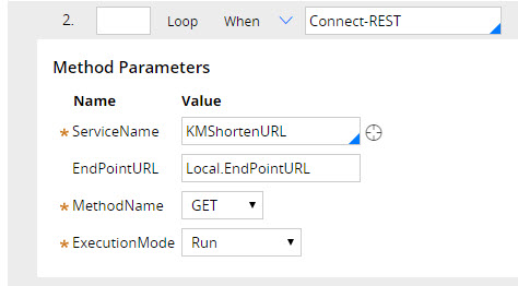 Fields in the Method Parameters section