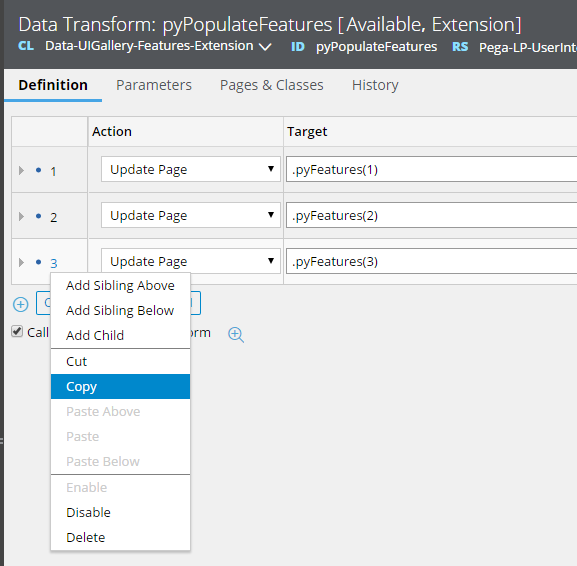 Copying a row in pyPopulateFeatures data transform