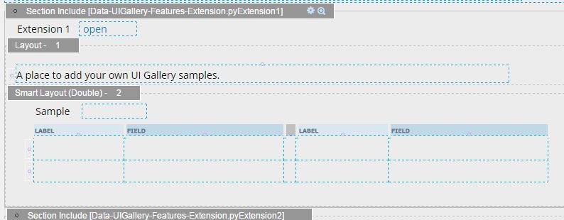 Design tab of the pyExtension1