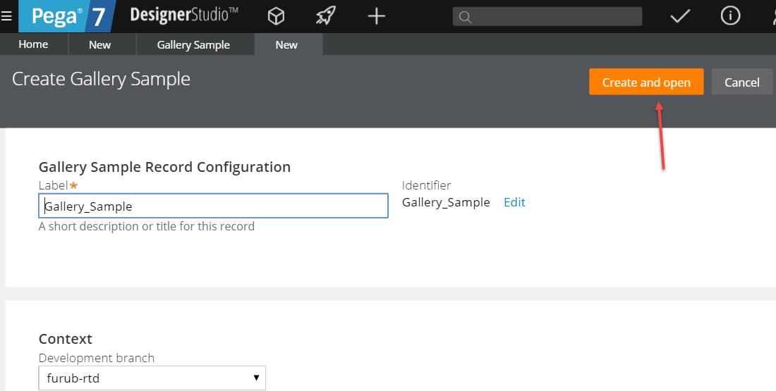 Creating a new UI Gallery sample in Designer Studio