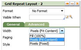 Grid Width options